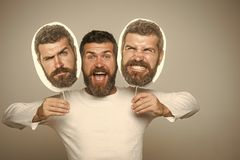 Male emotions. Feeling and emotions. stock images
