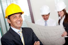 Male engineer in business suit Royalty Free Stock Image