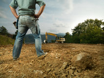 Male engineer on construction site Stock Images