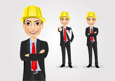 Male engineer with crossed arms Stock Images
