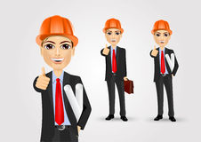 Male engineer giving thumbs up Stock Photos