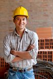 Male engineer smiling Stock Photo