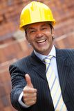 Male engineer with thumbs up Royalty Free Stock Image
