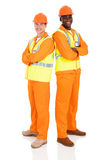 Male engineers standing royalty free stock photo