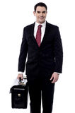 Male entrepreneur carrying a briefcase Royalty Free Stock Photo