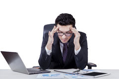 Male entrepreneur look frustrated Royalty Free Stock Images