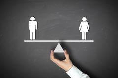 Male equals female Stock Photos