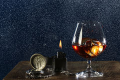 Male evening alone royalty free stock image