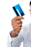 Male executive showing his cash card Royalty Free Stock Image
