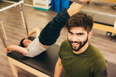 Male exercising Royalty Free Stock Images