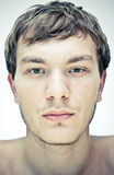 Male face. On a white background royalty free stock photo