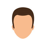 Male faceless head Royalty Free Stock Image