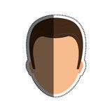 Male faceless head Royalty Free Stock Photos