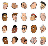 Male faces Royalty Free Stock Photo