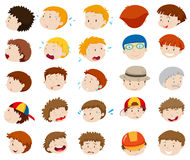 Male faces with different emotions Royalty Free Stock Photo