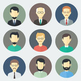 Male Faces Icons Set Royalty Free Stock Photography