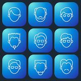 Male Faces Icons Set Royalty Free Stock Images