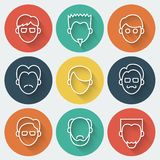 Male Faces Icons Set Royalty Free Stock Photo