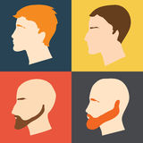 Male faces in profile Royalty Free Stock Image