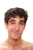 Male facial expression Royalty Free Stock Image