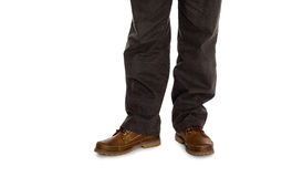 Male fall shoes and trousers. Stock Images