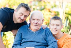 Male Family Members Stock Photo