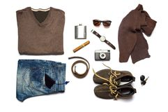 Male fashion accessories flat lay isolated Stock Image