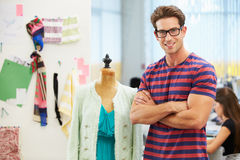 Male Fashion Designer In Studio Royalty Free Stock Photos