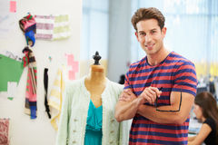 Male Fashion Designer In Studio Stock Images