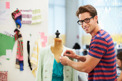 Male Fashion Designer In Studio Stock Image