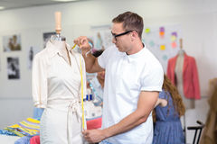 Male fashion designer at work Stock Images