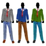 Male Fashion Mannequin Silhouettes Stock Images