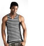 Male fashion model stock image