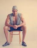 Male fashion model stock photo