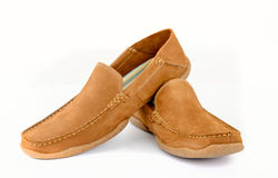 Male fashion shoes isolated Royalty Free Stock Photos