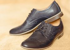 Male fashion shoes. Shallow dept of field Stock Photos
