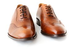 Male fashion shoes on white Royalty Free Stock Image