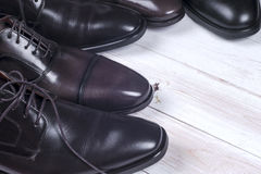 Male fashion with shoes on white Royalty Free Stock Images