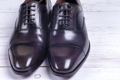 Male fashion with shoes on white Stock Image