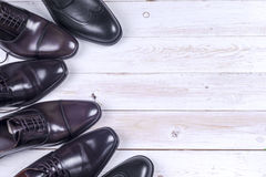 Male fashion with shoes on white Stock Photo
