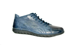 Male fashion  sport  shoes on white. Male fashion blue  sport  shoes on white backgraund Stock Photo