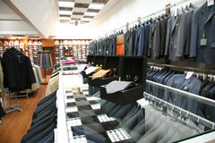 Male fashion store Stock Photo