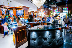 Male fashion store in Emporia shopping mall in Malmo, Sweden. MALMO, SWEDEN - JANUARY 2, 2015: Male fashion store in Emporia shopping mall in Malmo, Sweden Stock Image