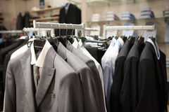 Male fashion store interior Royalty Free Stock Image