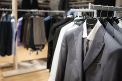 Male fashion store interior Royalty Free Stock Images