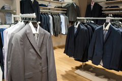 Male fashion store interior Stock Photography