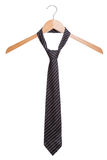 Male fashion tie. On a hanger white background. Close-up Royalty Free Stock Photo