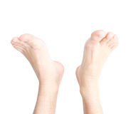 Male feet Stock Images
