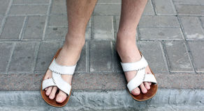 Male feet Royalty Free Stock Photography