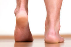 Male feet heels Royalty Free Stock Photos